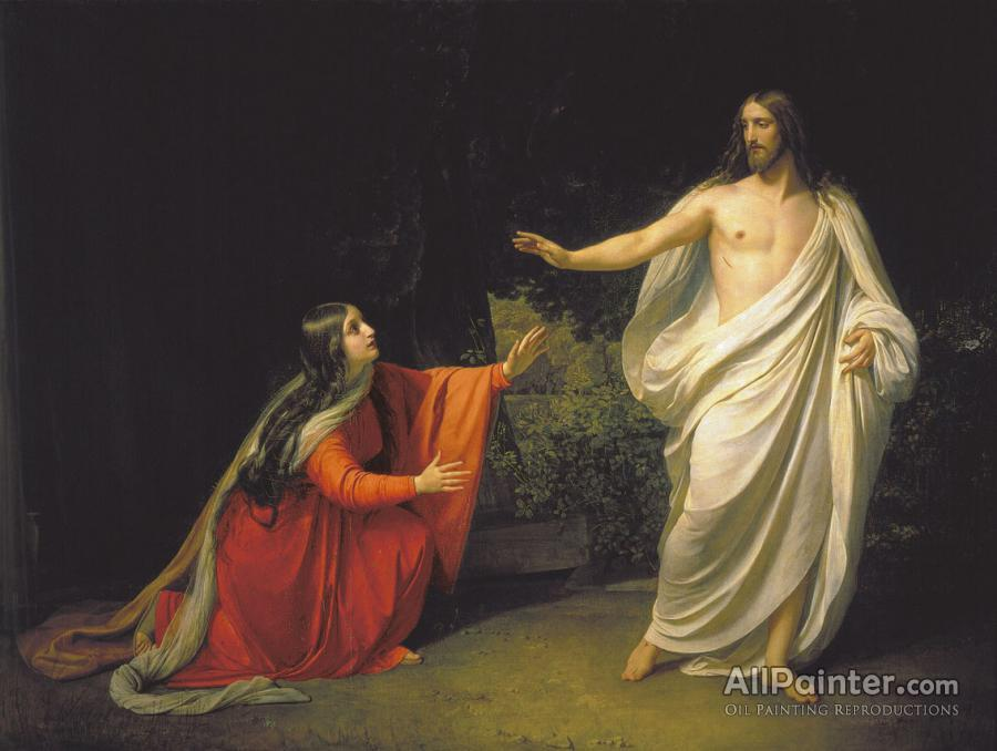 Alexander Andreyevich Ivanov Appearance Of Jesus Christ To Maria