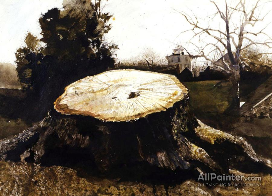Andrew Wyeth The Big Oak Oil Painting Reproductions For