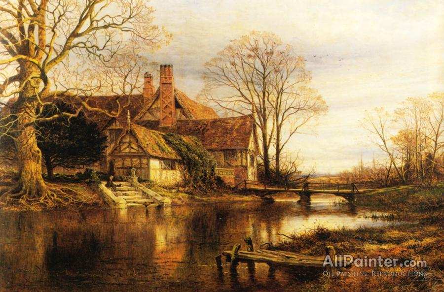Benjamin Williams Leader A Moated Grange Oil Painting Reproductions