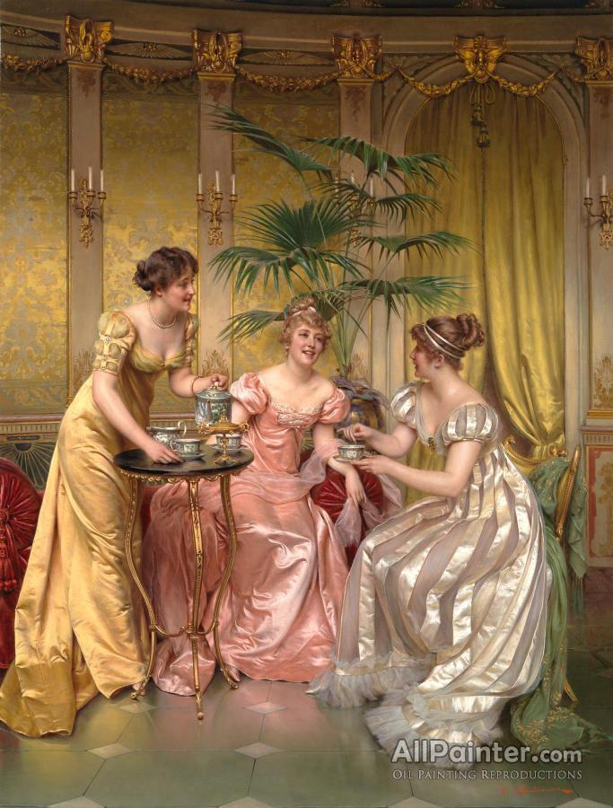 Charles Joseph Frederick Soulacroix paintings for sale:Afternoon Tea