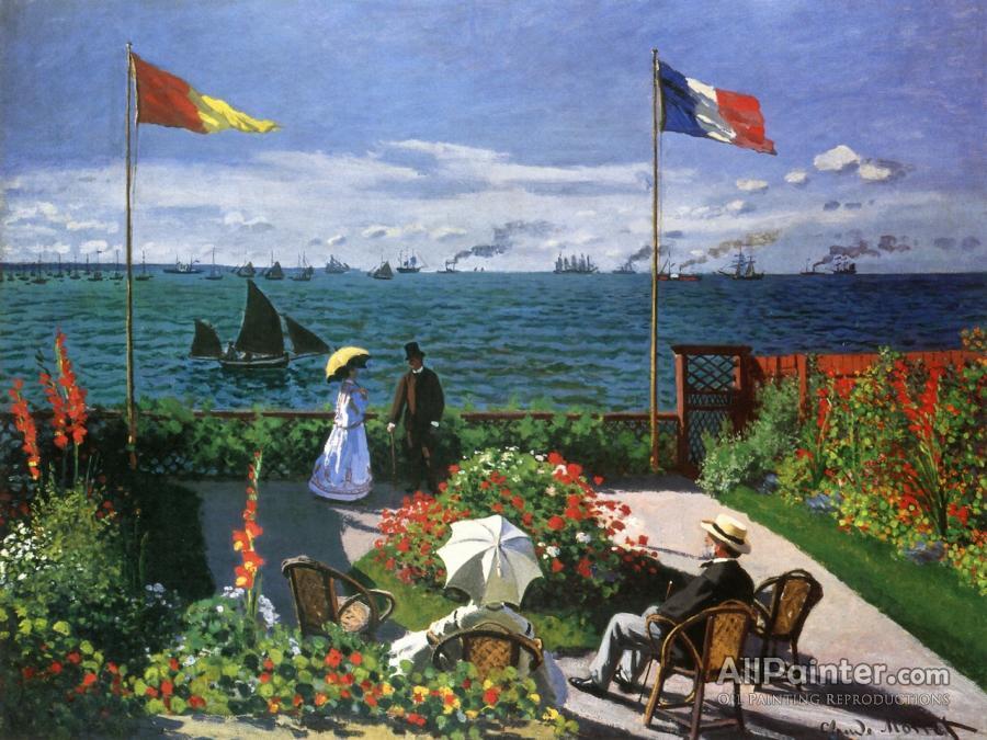 Claude Monet paintings for sale:Garden At Sainte-adresse
