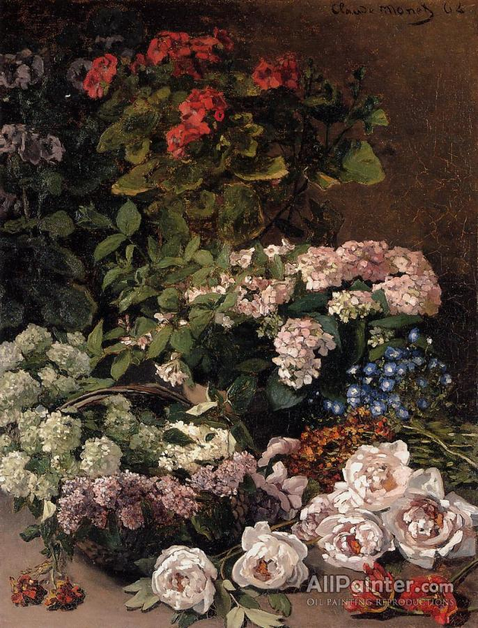 Claude Monet Spring Flowers Oil Painting Reproductions For Sale