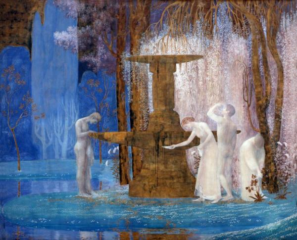 The Fountain Of Inspiration, 1907 by Constant Montald Oil Painting Reproductions