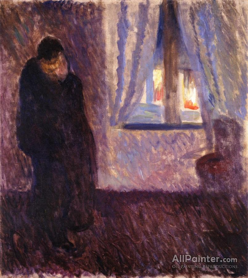 Edvard Munch Kiss By The Window Oil Painting Reproductions For Sale