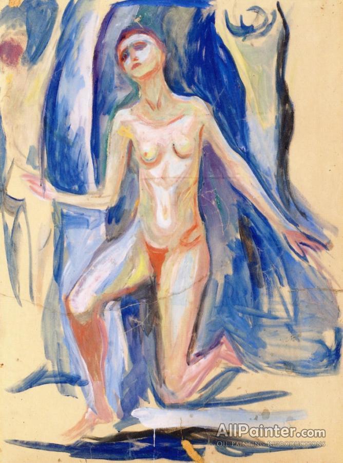 Edvard Munch Paintings For SaleKneeling Female Figure
