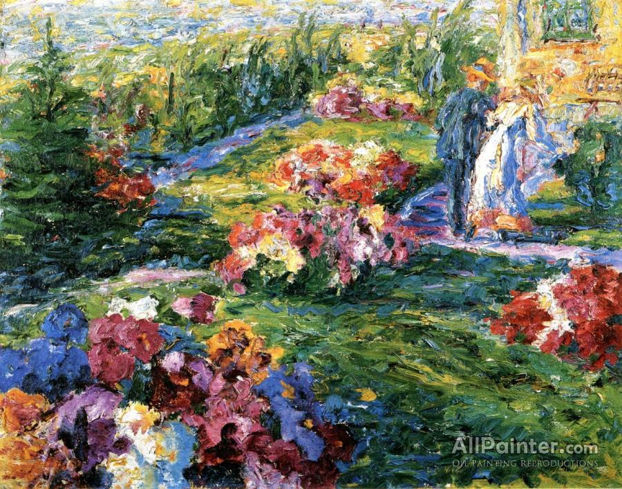 Emil Nolde Paintings For Sale:Flower Garden, Man And Woman