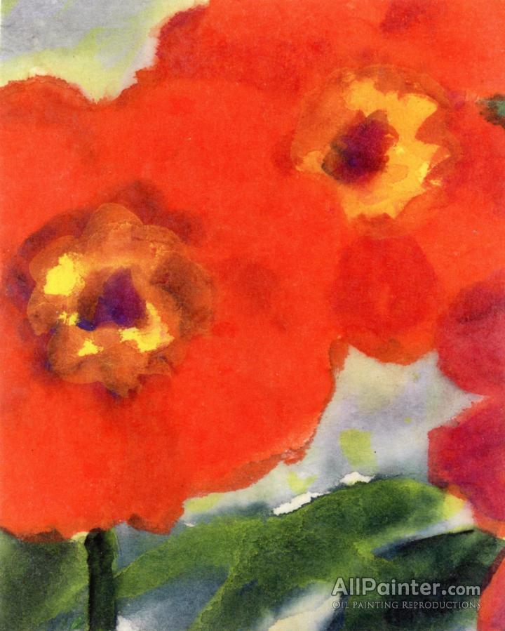 Emil Nolde Red Poppy Flowers Oil Painting Reproductions For Sale