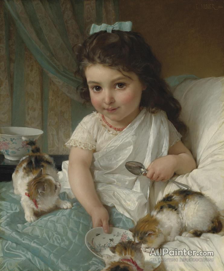 Émile Munier paintings for sale:The Morning Meal