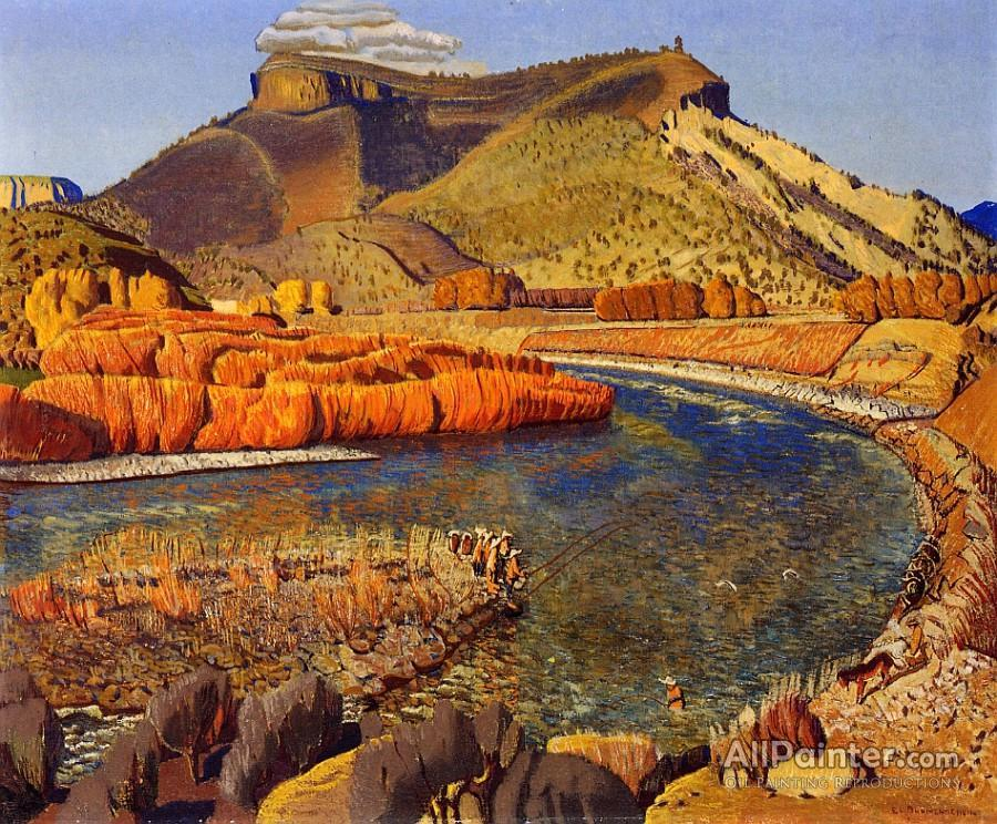 Ernest Leonard Blumenschein paintings for sale:Bend In The River