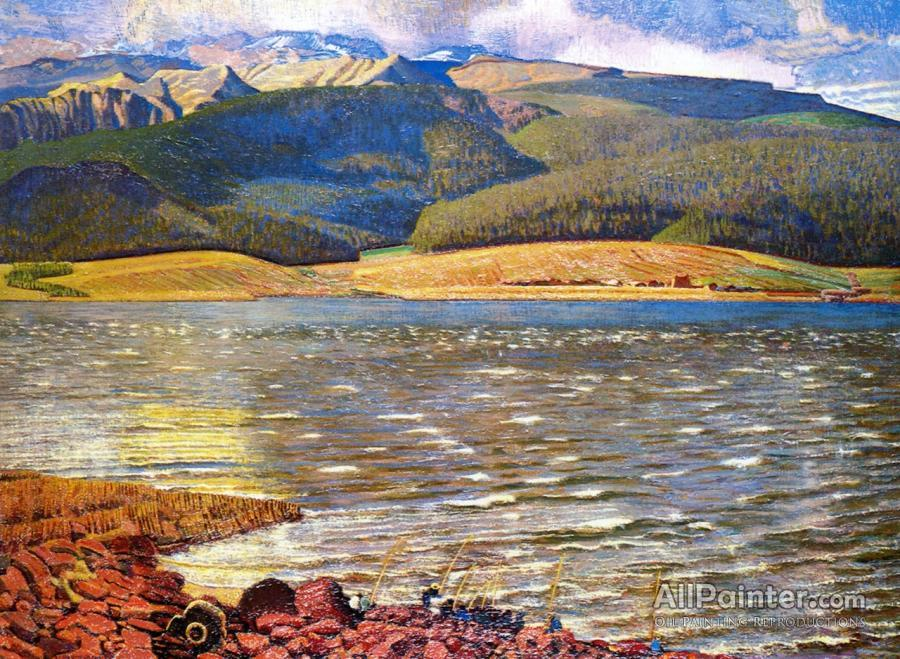 Ernest Leonard Blumenschein paintings for sale:Eagles Nest Lake, New Mexico