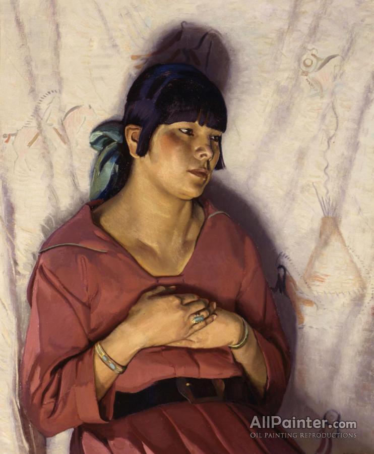 Ernest Leonard Blumenschein paintings for sale:Girl In Rose