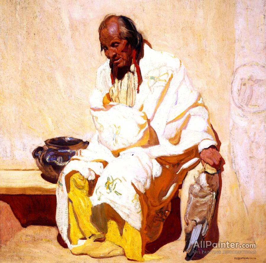 Ernest Leonard Blumenschein paintings for sale:Old Man In White