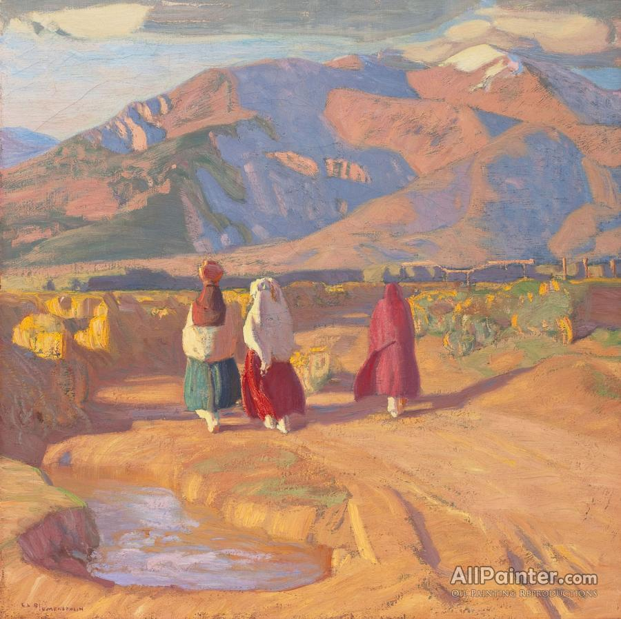 Ernest Leonard Blumenschein paintings for sale:Taos Valley Reflections