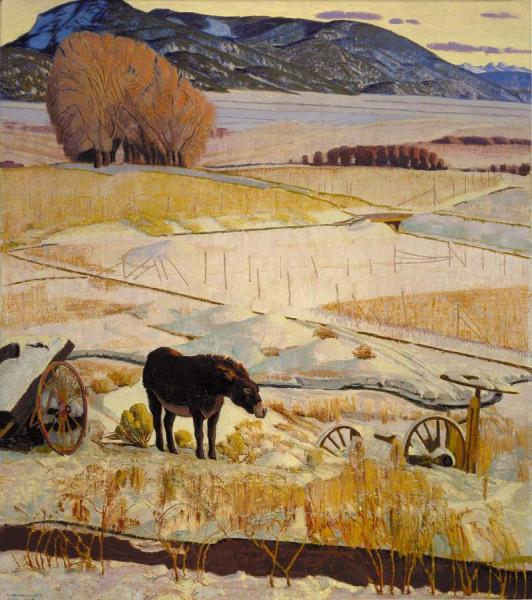 The Burro by Ernest Leonard Blumenschein Oil Painting Reproductions