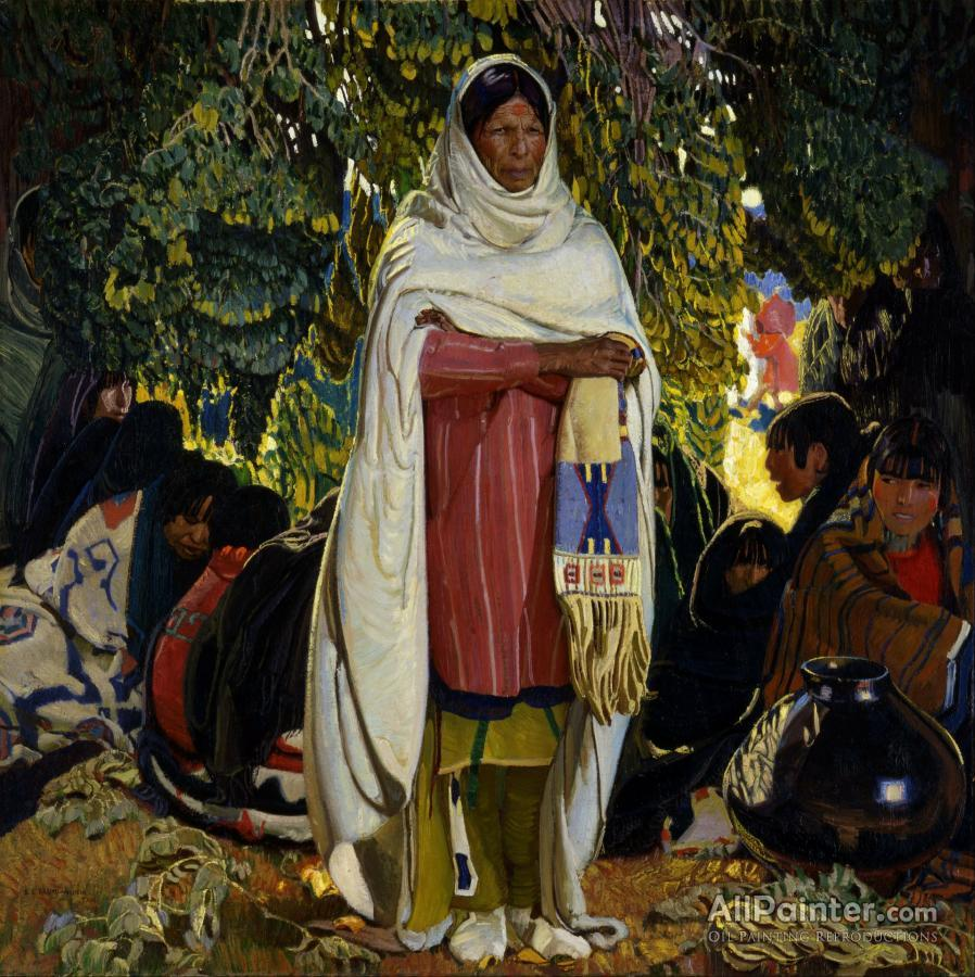 Ernest Leonard Blumenschein paintings for sale:The Gift, 1922