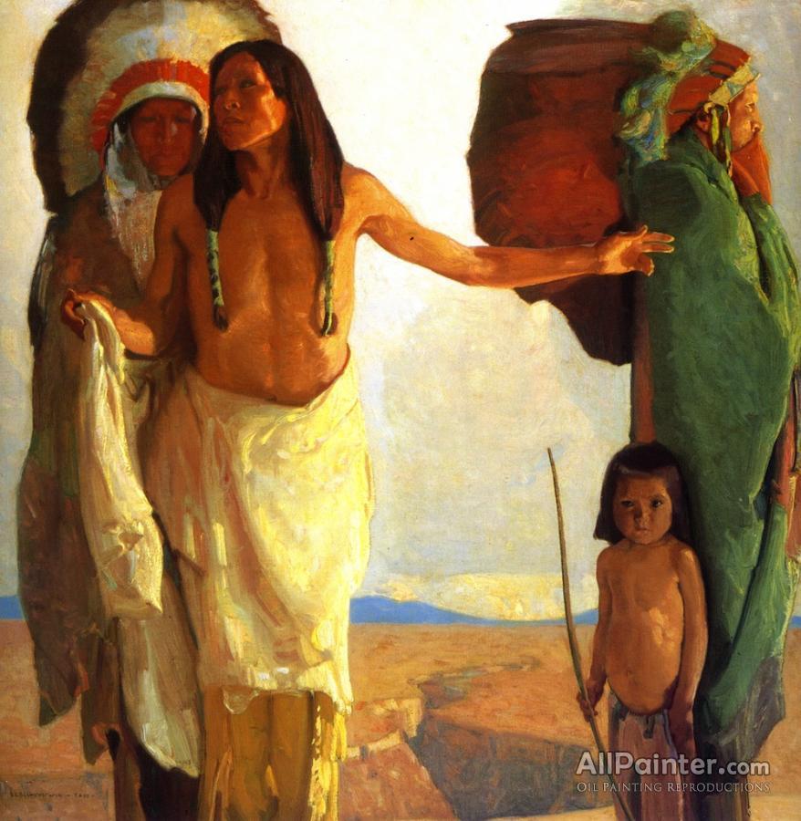 Ernest Leonard Blumenschein paintings for sale:The Peacemaker