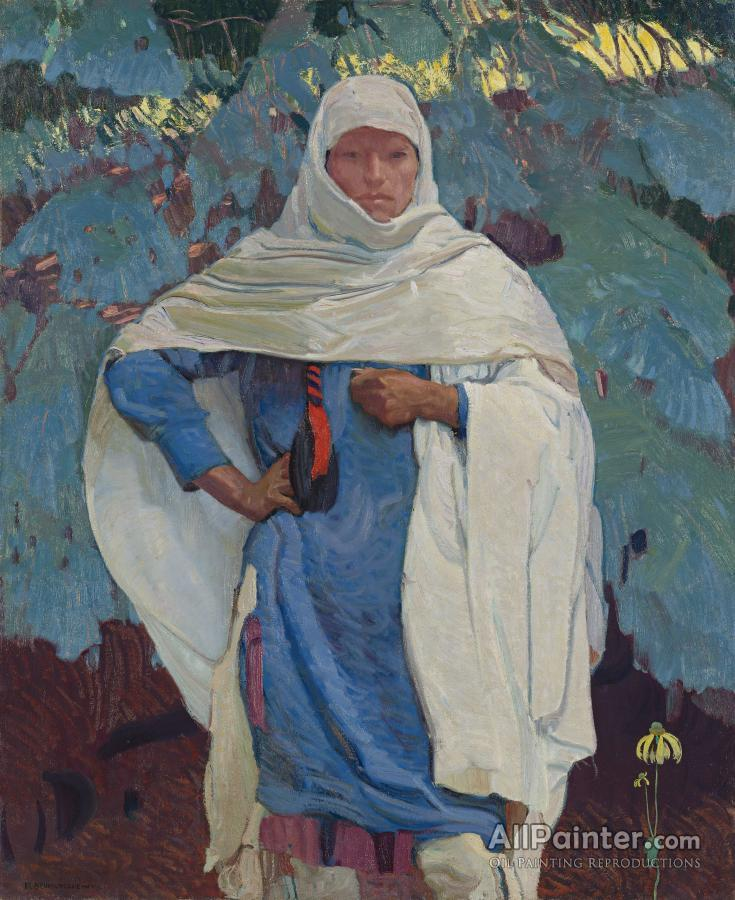 Ernest Leonard Blumenschein paintings for sale:White Blanket And Blue Spruce