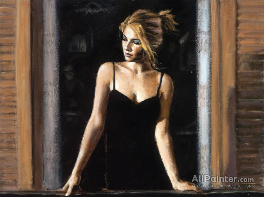 Fabian Perez Balcony At Buenos Aires Vii Oil Painting ...