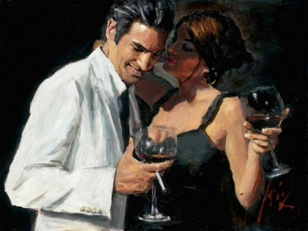 Whispers Vii by Fabian Perez Oil Painting Reproductions