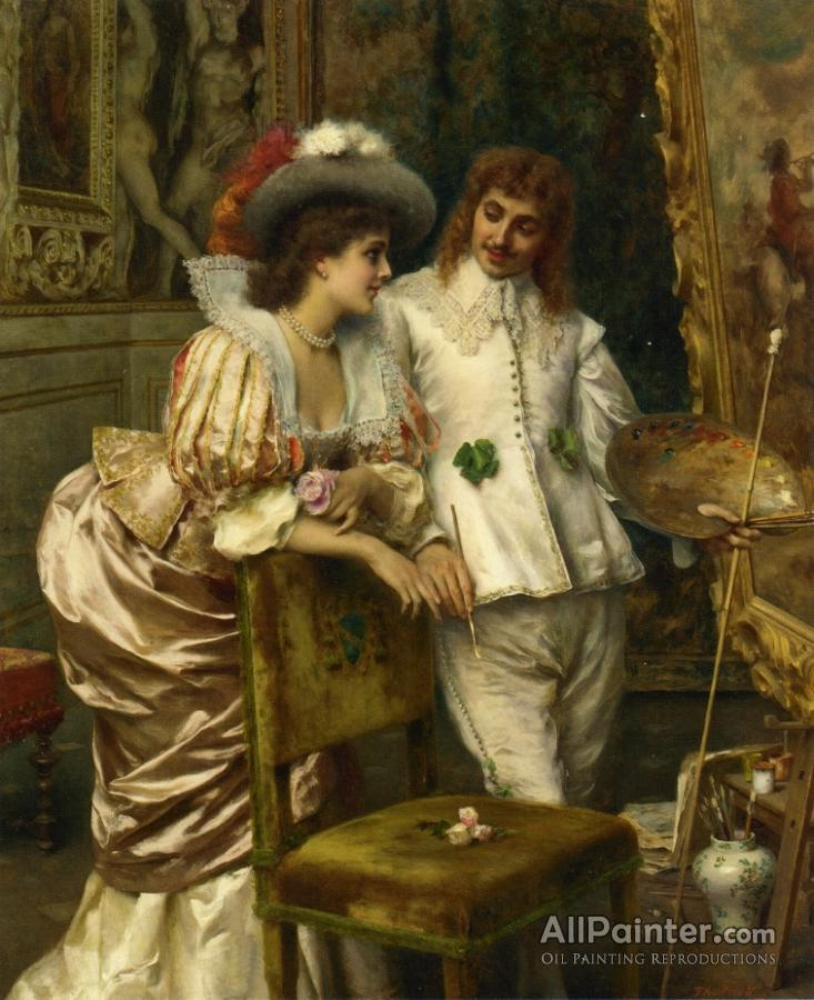 Federico Andreotti paintings for sale:A Visit To The Studio