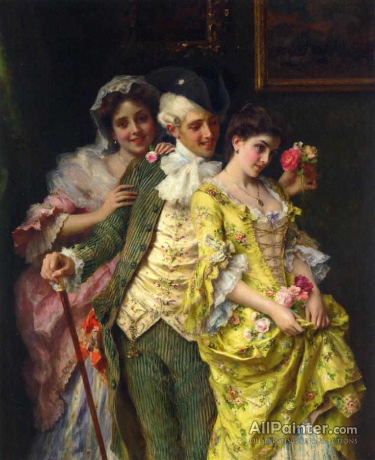 Federico Andreotti paintings for sale:Flirtation