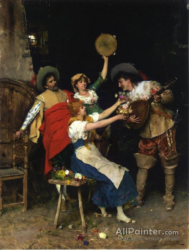 Federico Andreotti paintings for sale:Flowers For Music