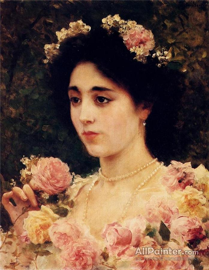 Federico Andreotti paintings for sale:The Pink Rose