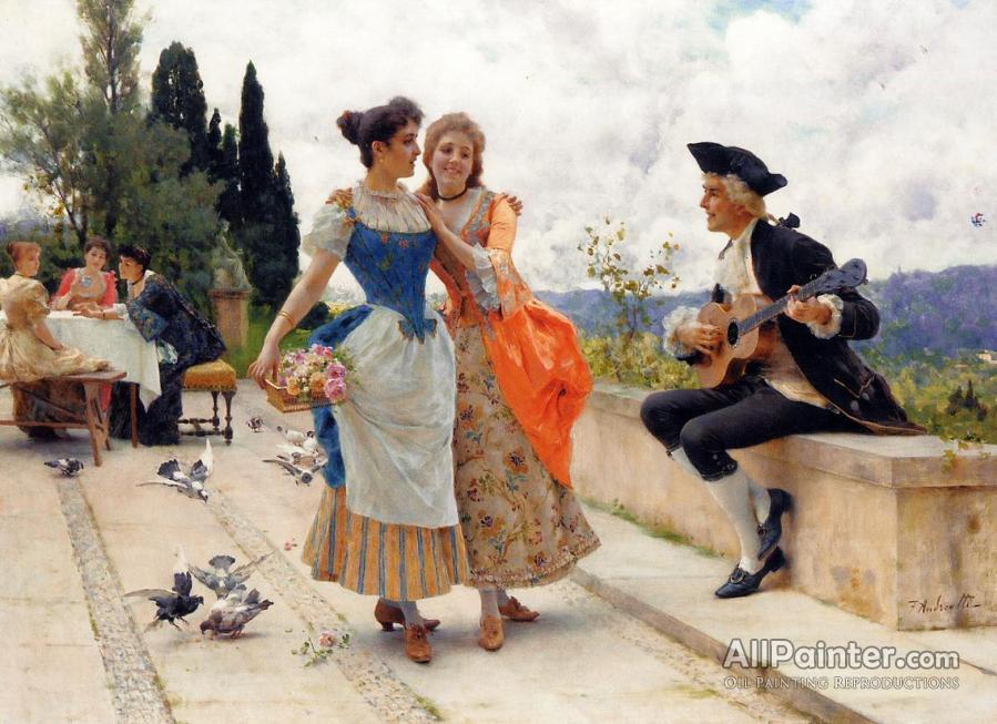 Federico Andreotti paintings for sale:The Serenade