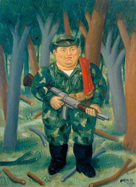 Manuel Marulanda by Fernando Botero Oil Painting Reproductions