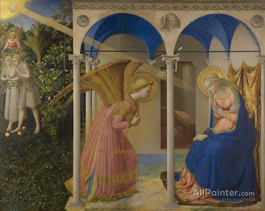 Fra Angelico paintings for sale:The Annunciation (1430-1432)