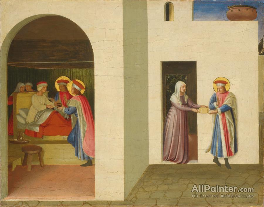 Fra Angelico paintings for sale:The Healing Of Palladia By Saint Cosmas And Saint Damian (san Marco Altarpiece)