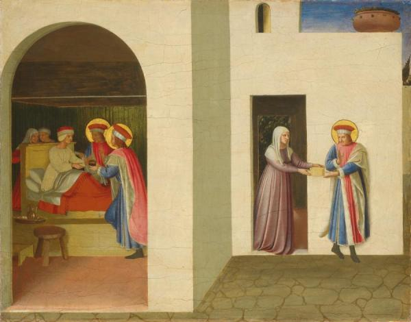 The Healing Of Palladia By Saint Cosmas And Saint Damian (san Marco Altarpiece) by Fra Angelico Oil Painting Reproductions