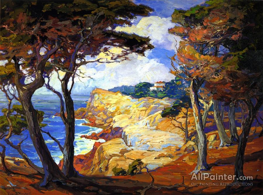Franz Bischoff paintings for sale:A Villa On The Monterey Coast