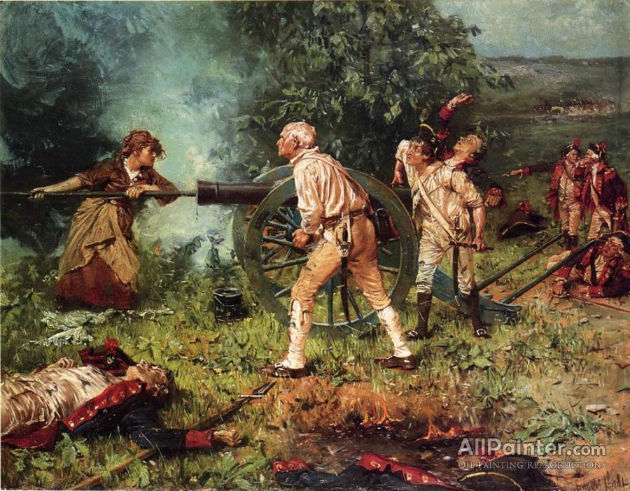 franz ludwig catel molly pitcher at the battle of monmouth 1778 oil