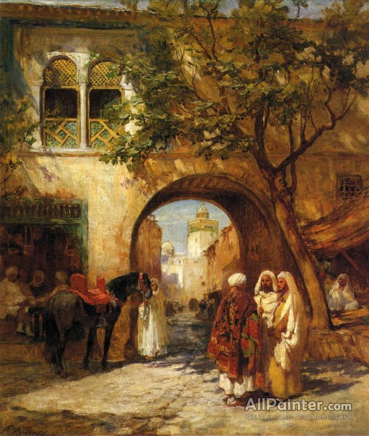 3ad7c3c772f Frederick Arthur Bridgman paintings for sale By The City Gate