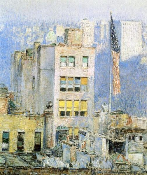 The Flag, Fifth Avenue. By Frederick Childe Hassam