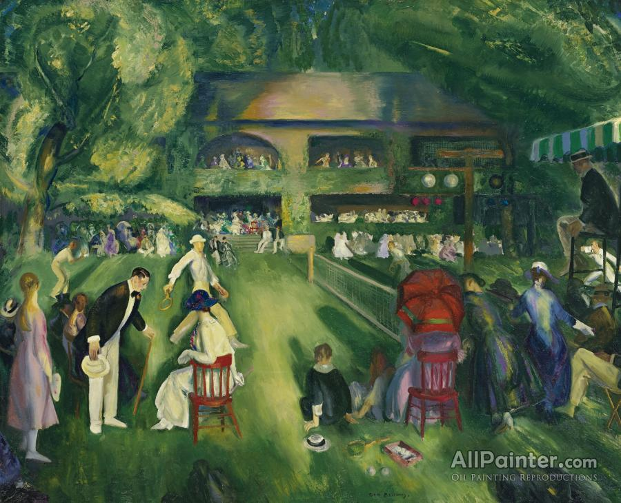 George Wesley Bellows paintings for sale:Tennis At Newport