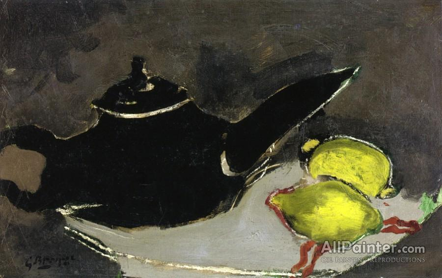Georges Braque paintings for sale:Black Teapot And Two Lemons
