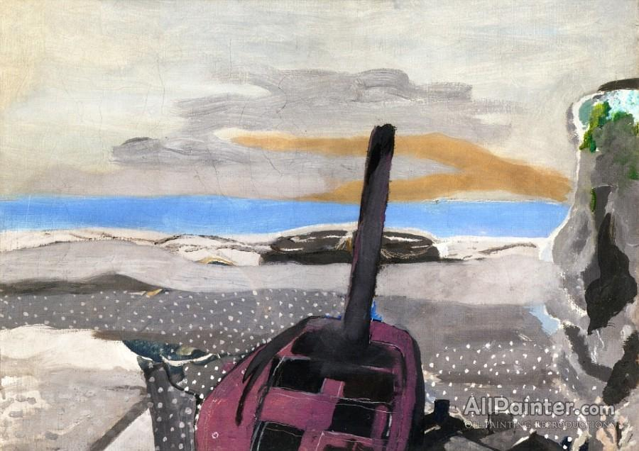 Georges Braque paintings for sale:Boat And Cliff
