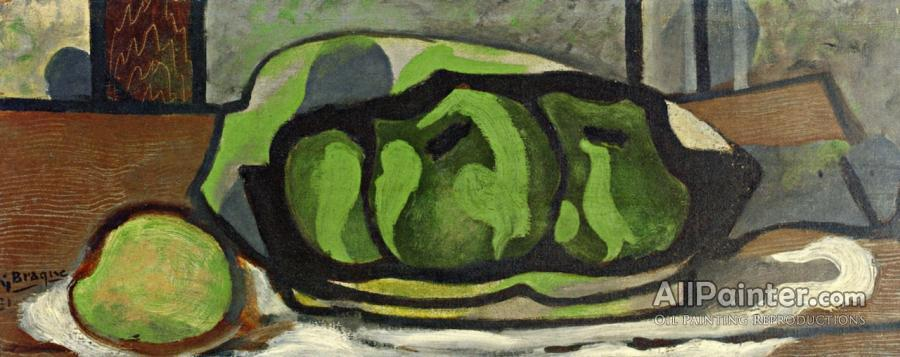 Georges Braque paintings for sale:Green Apples