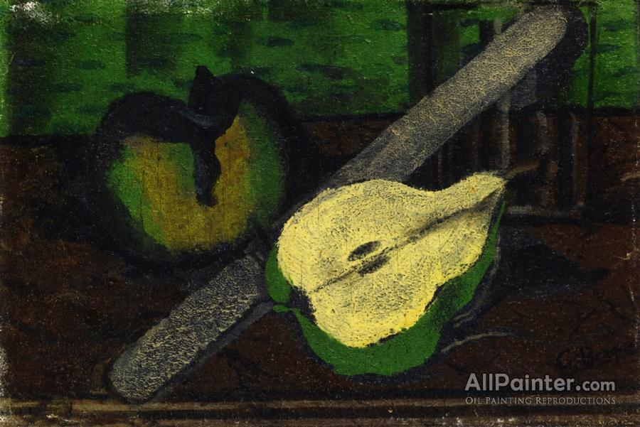 Georges Braque paintings for sale:Pear, Apple And Knife