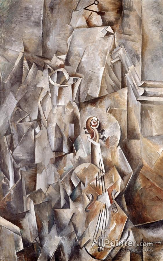 Georges Braque paintings for sale:Pitcher And Violin