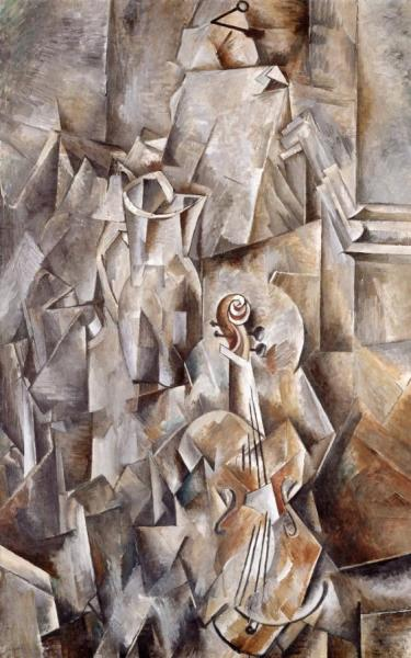 Pitcher And Violin by Georges Braque Oil Painting Reproductions