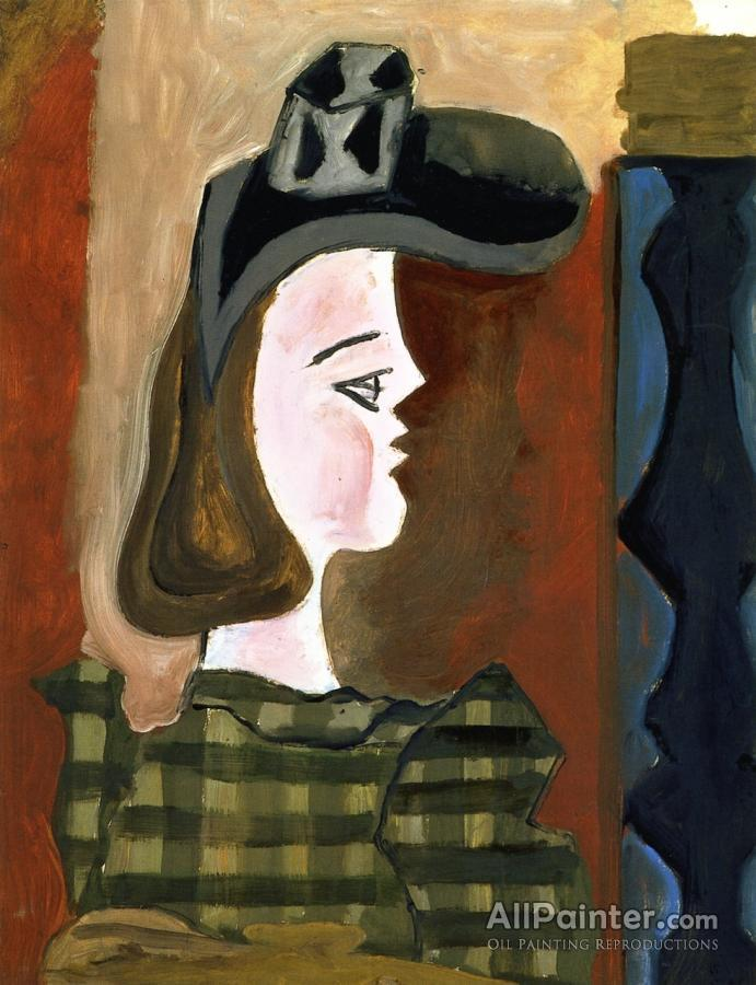Georges Braque paintings for sale:Profile Of A Woman In A Hat