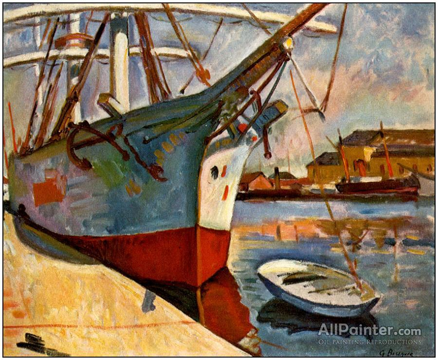 Georges Braque paintings for sale:Ship At Le Havre