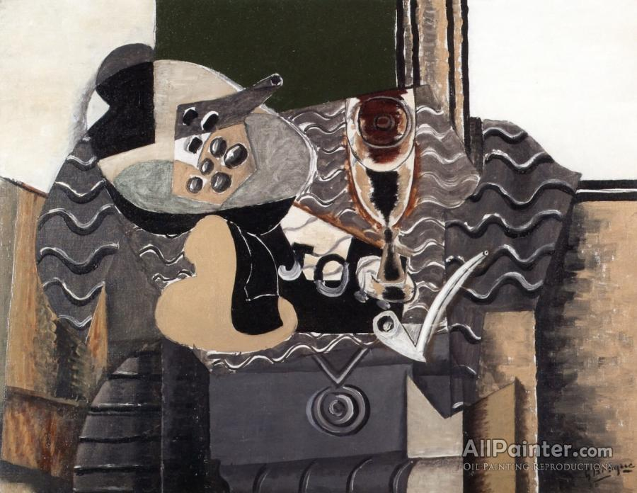 Georges Braque paintings for sale:Still Life With Glass