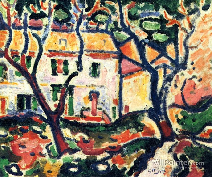 Georges Braque paintings for sale:The House Behind The Trees
