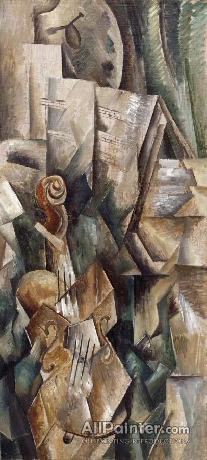 Georges Braque paintings for sale:Violin And Palette (violon Et Palette), 1909