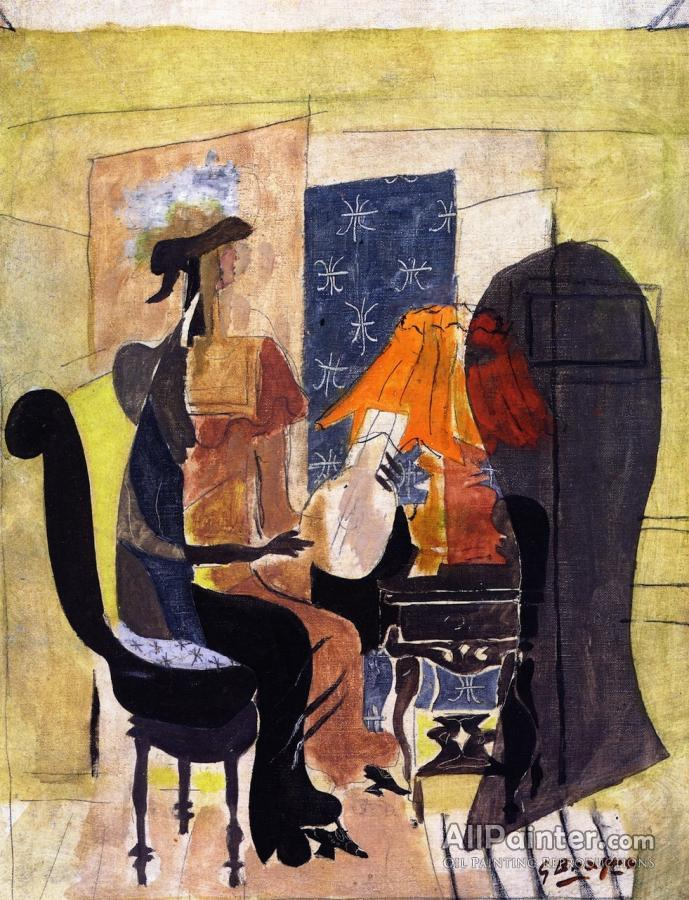 Georges Braque paintings for sale:Woman With A Mandolin