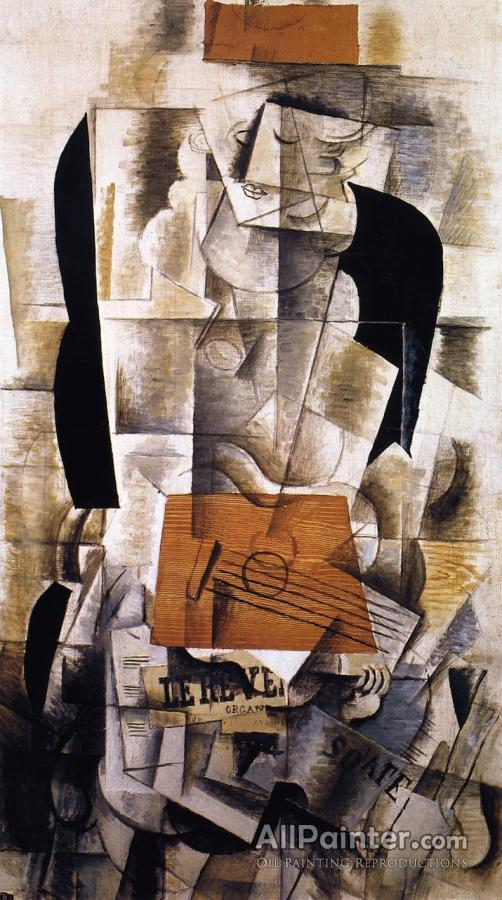 Georges Braque paintings for sale:Young Girl With Guitar